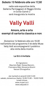 Vally Valli, Galleri aParmeggiani Reggio Emilia
