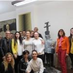 Vally Valli con gli studenti dell'Istituto L.Nobili